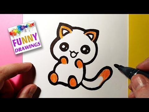 Download How To Draw Cute Kitten Easy Mp3 3gp Mp4