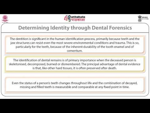 Importance of dental records in forensic odontology (ANT)