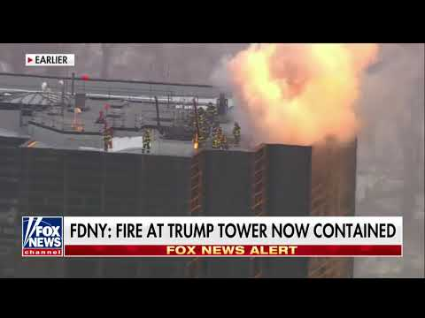 Fire Breaks Out on Roof of Trump Tower; No Injuries Reported