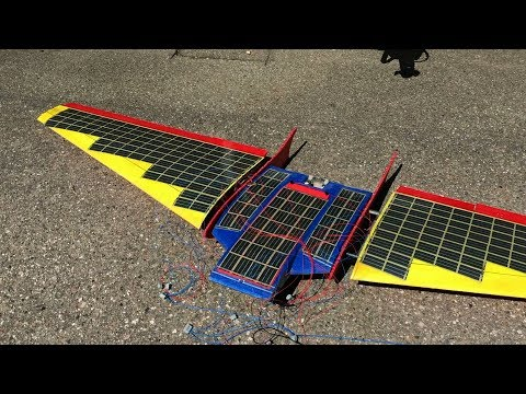 Organic solar cell powered RC plane / glider - solar cell mo