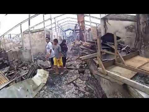 Pasca kebakaran di Pasar Rawa Kalong Bekasi