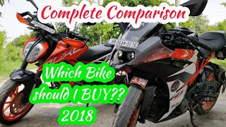 KTM duke 390 vs KTM RC 390 | complete comparison | which bike should you buy