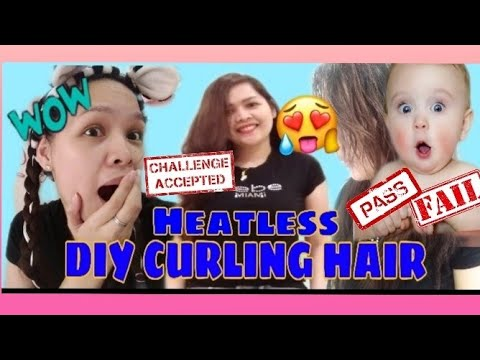 DIY HEATLESS CURLING HAIR Just In 2hrs//CHALLENGE ACCEPTED-Lhorsef 🙋♀️