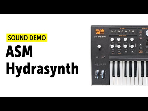 Ashun Sound Machines Hydrasynth Demo (No Talking)