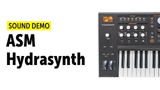 Ashun Sound Machines Hydrasynth Demo (No Talking)