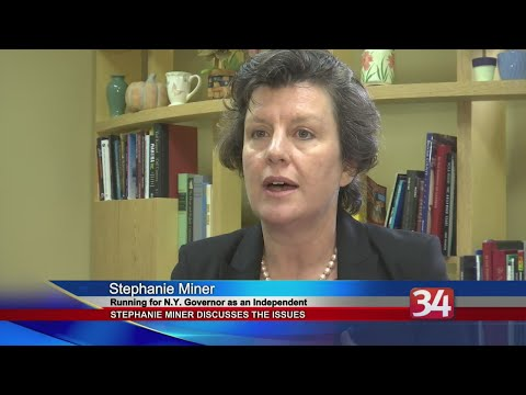 Independent candidate for Governor Stephanie Miner discusses the issues with NewsChannel 34