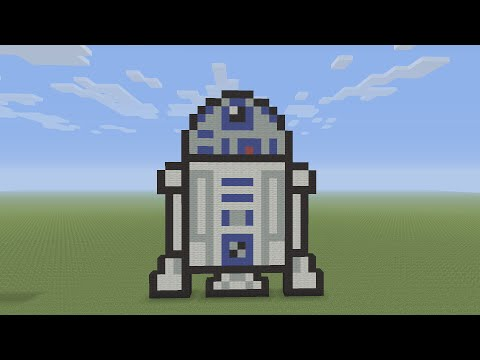Minecraft Pixel Art - R2-D2 From Star Wars