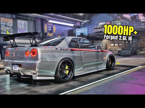 Need For Speed Heat Gameplay - 1000HP+  NISSAN SKYLINE GT-R R34 Customization | Drift Build