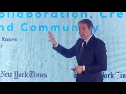 New York Times | Art for Tomorrow Conference | 2016 | Day 2 | Jeff Koons