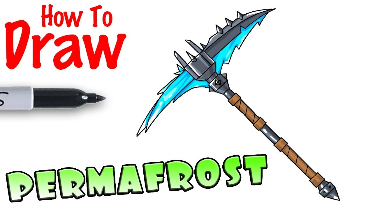 How To Draw Permafrost Pickaxe Fortnite Youtube