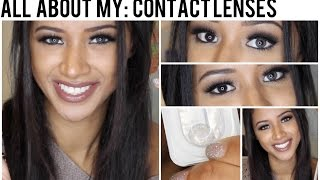 All About My: Contact Lenses! • Grey Freshlook Colorblends on Brown Eyes • Jaydee Stone