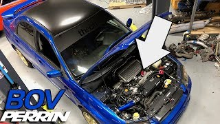 INSTALLING A PERRIN BLOW OFF VALVE ON THE WRX! (TURBO NOISES!)
