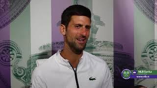 Wimbledon 2019   Izjava Novaka Đokovića za SPORT KLUB posle plasmana u Finale