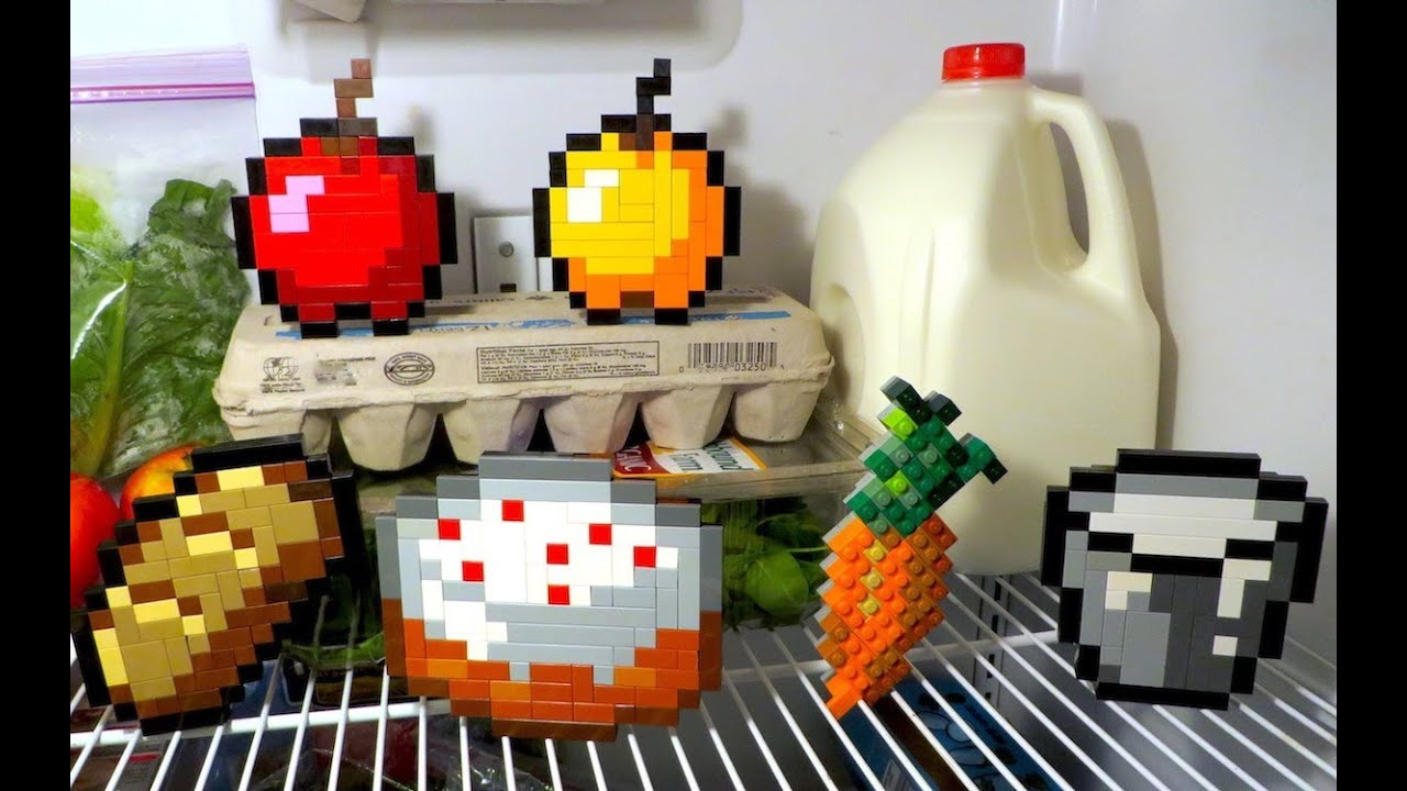 Lego minecraft food youtube for Cuisine youtube
