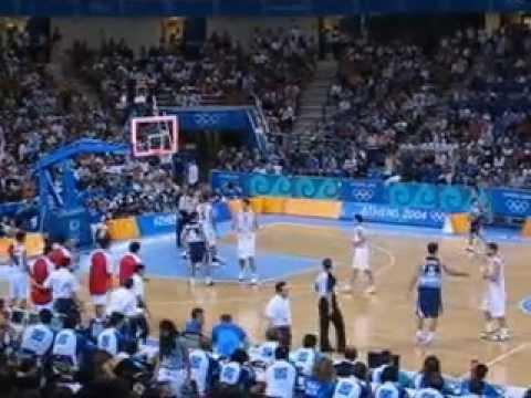 Athens 2004 - Spain defeats Argentina Basketball