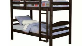 Where To Buy We Furniture Twin / Twin Solid Wood Bunk Bed - Espresso, Review