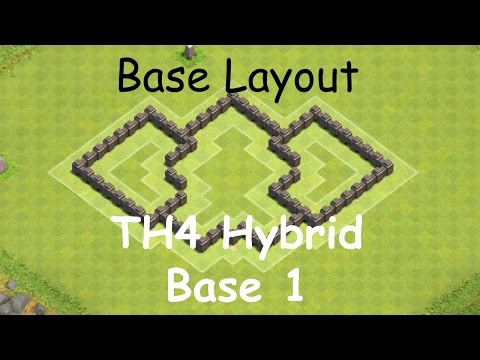 Clash Of Clans - Base Layouts - Town Hall 4 Hybrid Base Layout