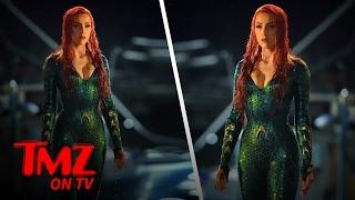 First Photos Of Amber Heard As Mera | TMZ TV