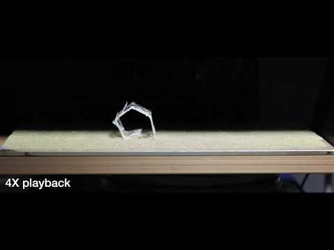This 3D-printed robot assembles itself and then rolls away