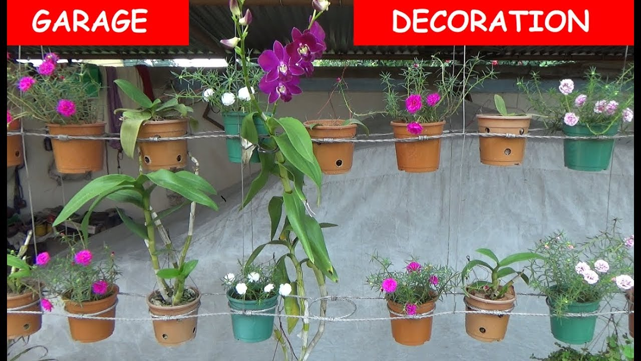Garage Decoration With Flower Plant (with English Subtitle