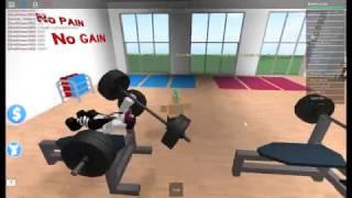 BOSSY COACH! BUILDING MUSCLES! GRUMPY JAM JAM! - ROBLOX Fitness Centre