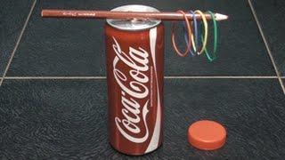что можно сделать из банки,карандаша и резинок