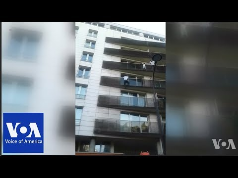 AM Tampa Bay - Real-Life Spiderman Rescues Child From Balcony