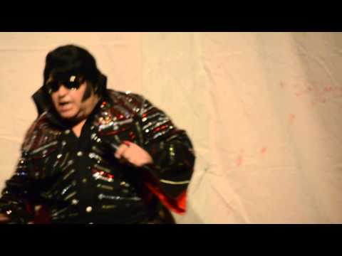 Elvis impersonator Dave Greene performs 'Burning Love'