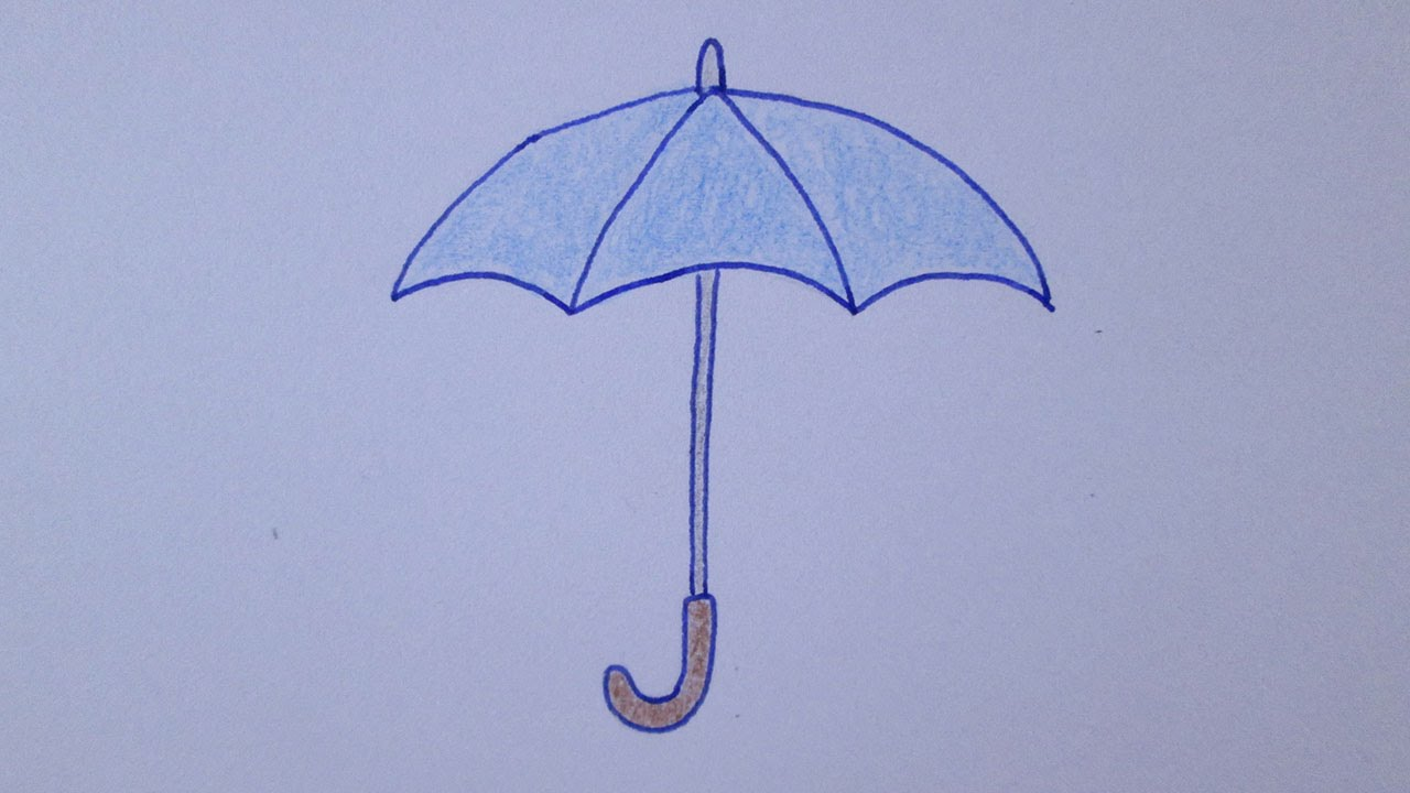 Cómo dibujar un paraguas - YouTube