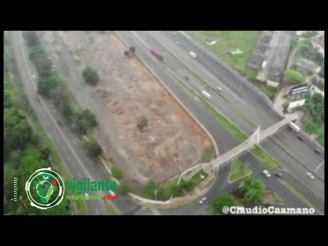 Vista aérea zona donde pretenden construir terminal de autobuses del Este