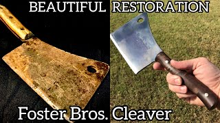 Restoring a Rusty Foster Bros. Meat Cleaver (Antique Restoration)