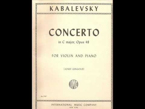 Kabalevsky - Violin Concerto - 1° Mov. - Piano Accompaniment