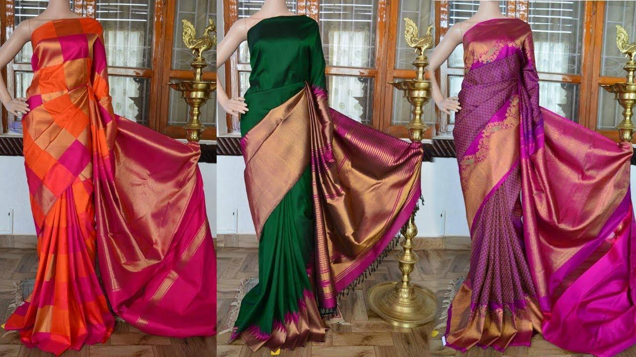 100% Pure Silk Grand Wedding Kanchipuram Sarees Collection | Million Designs - YouTube