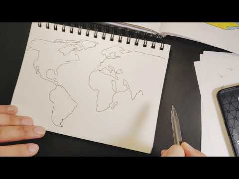 How To Draw A World Map | Easy | Step By Step!