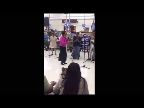 "The Joybells of Axton Va singing ""Just Jesus"" in Wal Mart"