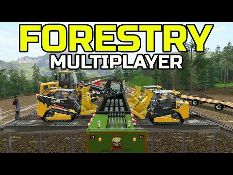 FARMING SIMULATOR 2017 | SKID LOADER FORESTRY | MULTIPLAYER | JCB