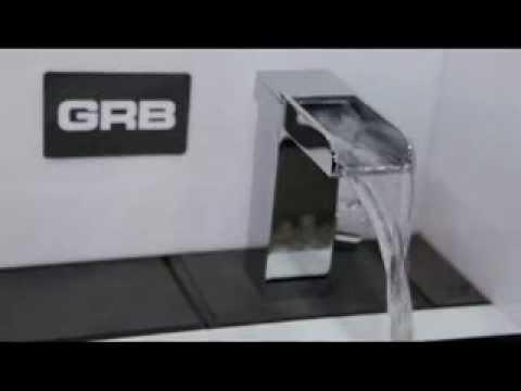 Grifo lavabo cascada grober youtube for Grifos modernos