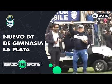 Increíble recibimiento a Diego maradona en Gimnasia y Esgrima La Plata
