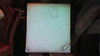 HK-DisneyLand-Trazan Drawing