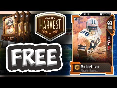 HOW TO GET A FREE 93 OVR MICHAEL IRVIN!! AND MORE!! THANKSGIVING PROMO - Madden 18 Ultimate Team