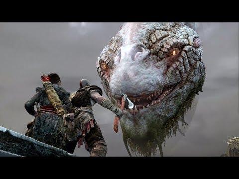 Ёрмунганд Мировой змей выплыл из озера ► God Of War 2018