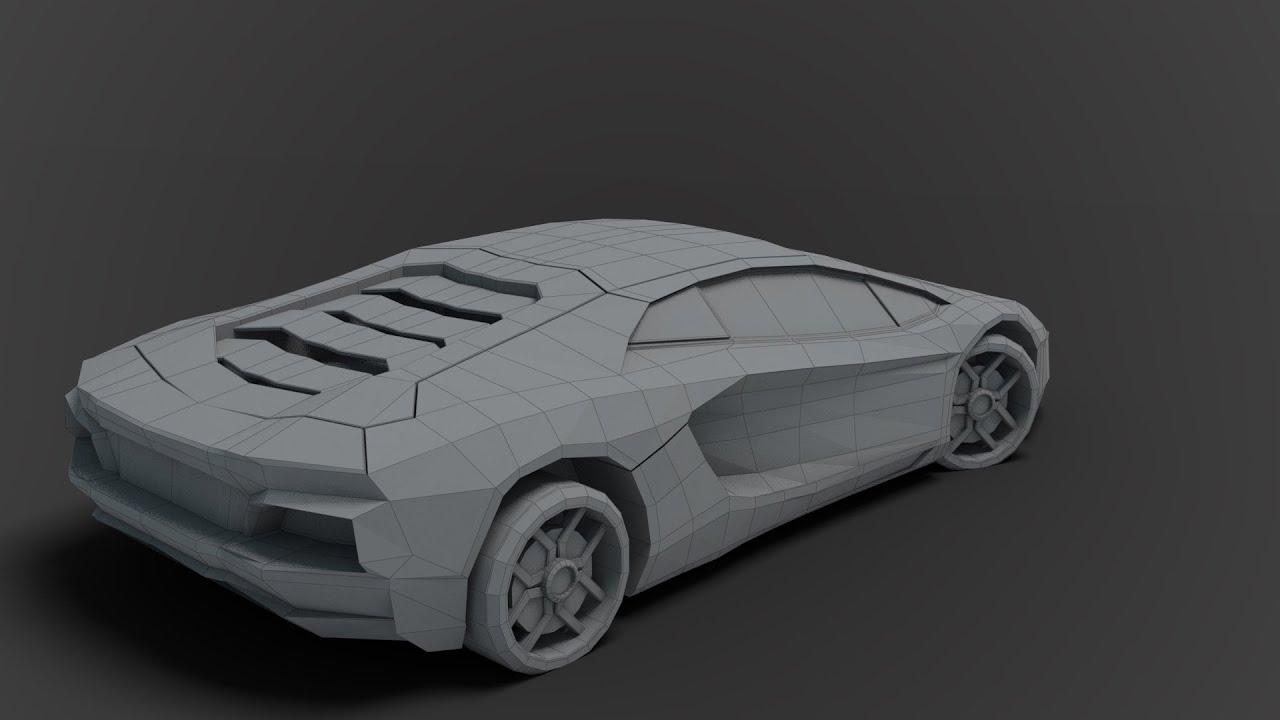 Modeling low poly Lamborghini 3DS Max beginner tutorial