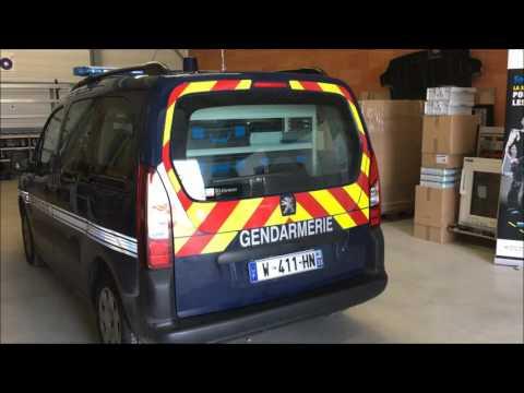 Amenagement Partner Peugeot 2017 equipement agencement de vehicule utilitaire Peugeot gendarmerie