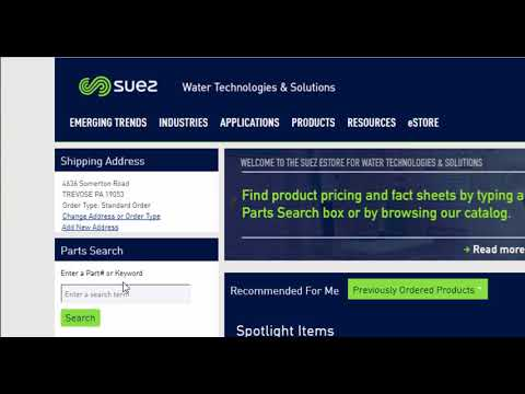 The SUEZ eStore for Water Technologies & Solutions | SUEZ