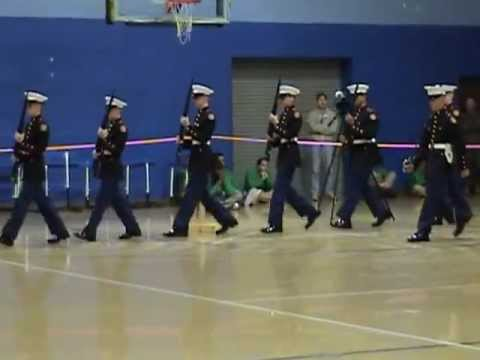 Nation Ford High School Drill Team at RS Central High School - First Year Armed