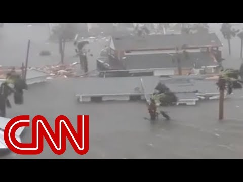 VIDEO: Hurricane Michael leaves neighborhood underwater