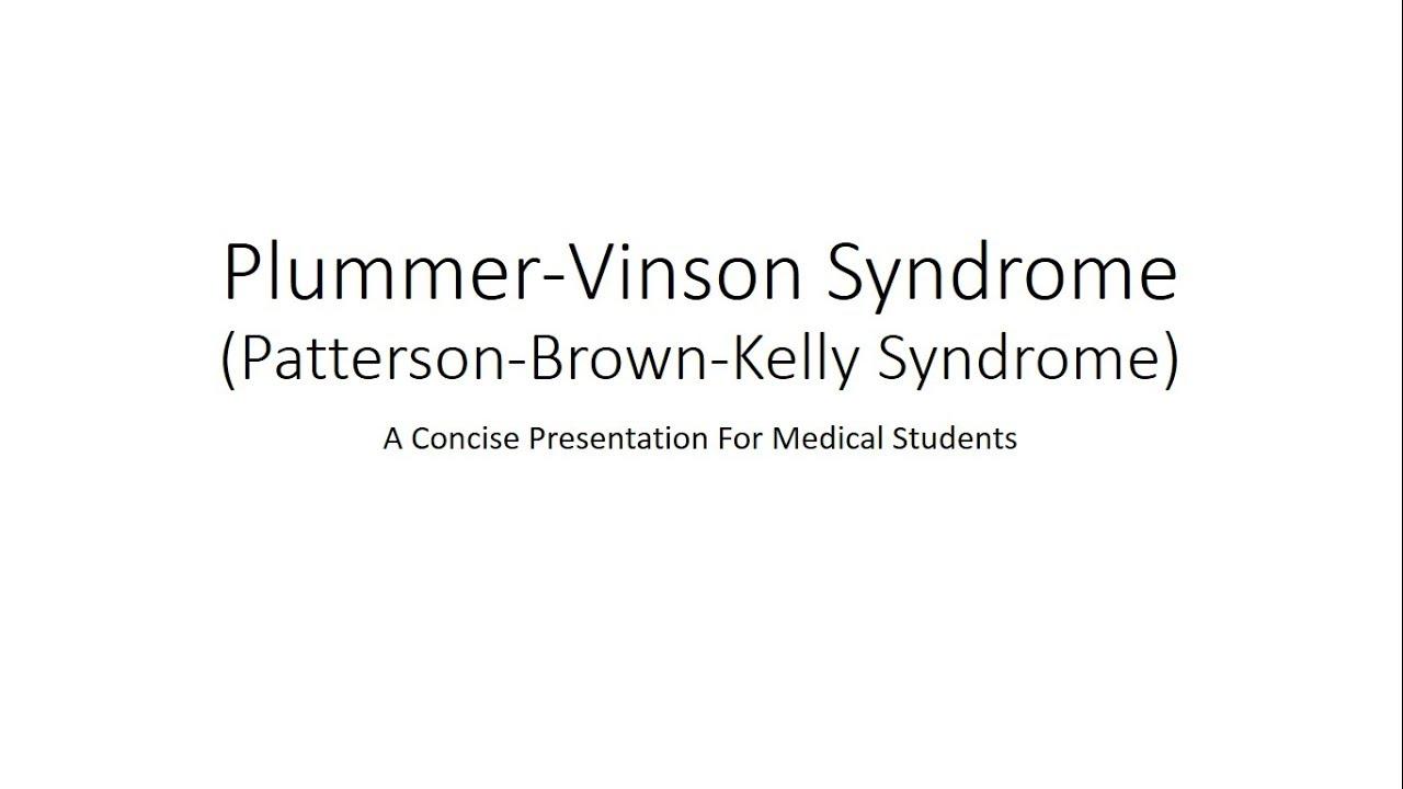 plummer vinson syndrome