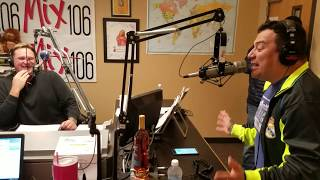 Carlos Mencia on the Mix Morning Show