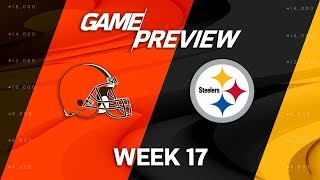 Cleveland Browns vs. Pittsburgh Steelers | NFL Week 17 Game Preview | NFL Playbook