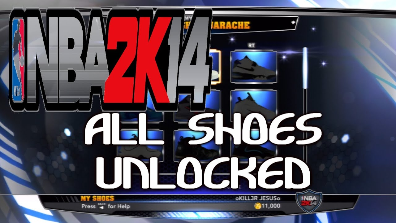 NBA 2K14 ALL SHOES UNLOCKED AND LEBRON JAMES BONUS PACK